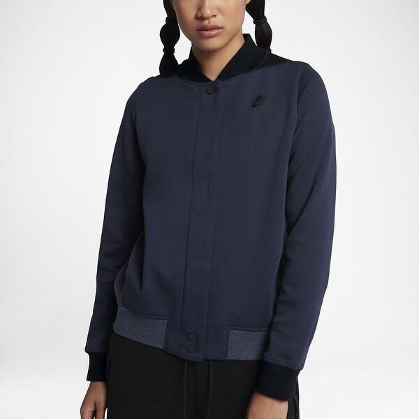 3b97b5d22e0a Nike Sportswear Women  x27 s Tech Fleece Destroy Jacket Obsidian Black Blue  Size