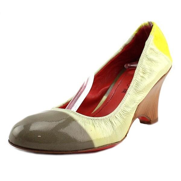 Fiorangelo 31002 Women Round Toe Leather Multi Color Heels