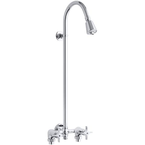 Kohler K-7254 Double Handle Shower Only Trim and Valve with Single Function Shower Head from the Valvet Series