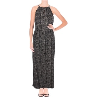 Lucky Brand Womens Maxi Dress Printed Keyhole - m