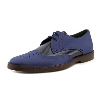 Pierre Hardy Gum Calf/Shiny Calf Men Apron Toe Suede Blue Oxford