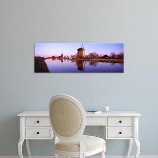 Easy Art Prints Panoramic Images's 'Windmills Schemerhorn The Netherlands' Premium Canvas Art
