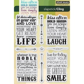 """Penny Black Cling Stamp 5""""X7""""-Life's Messages"""