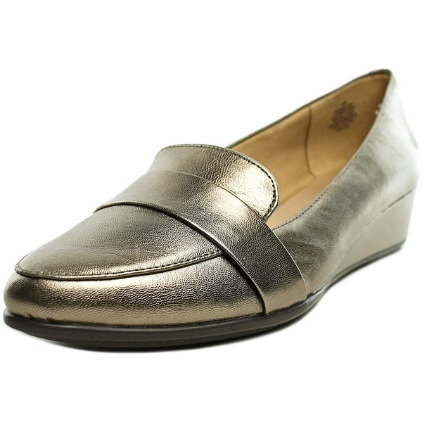 Easy Spirit Adalynn W Open Toe Leather Wedge Heel