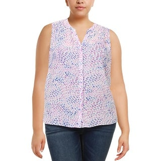 NYDJ Womens Petites Blouse Pintuck Pleat Back