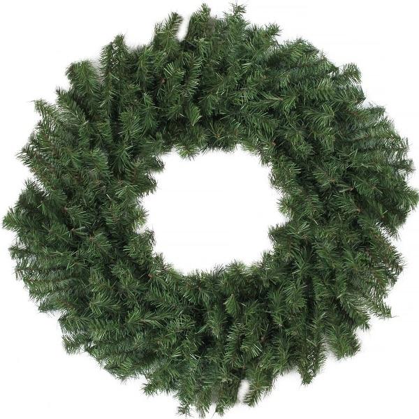 "36"" Canadian Pine Artificial Christmas Wreath - Unlit - green"