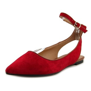 Audrey Brooke Naomi Women  Pointed Toe Suede Red Flats