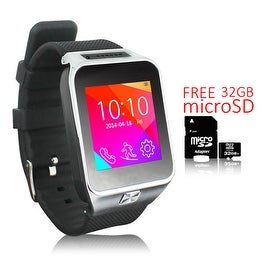 Indigi® Unlocked 2-in-1 SWAP2 SmartWatch & Phone + Bluetooth Sync + Built-In Camera + Pedometer w/ 32gb microSD Included