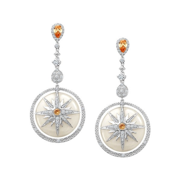 Cristina Sabatini Twinkle Star Earrings with Cubic Zirconia in Sterling Silver - White