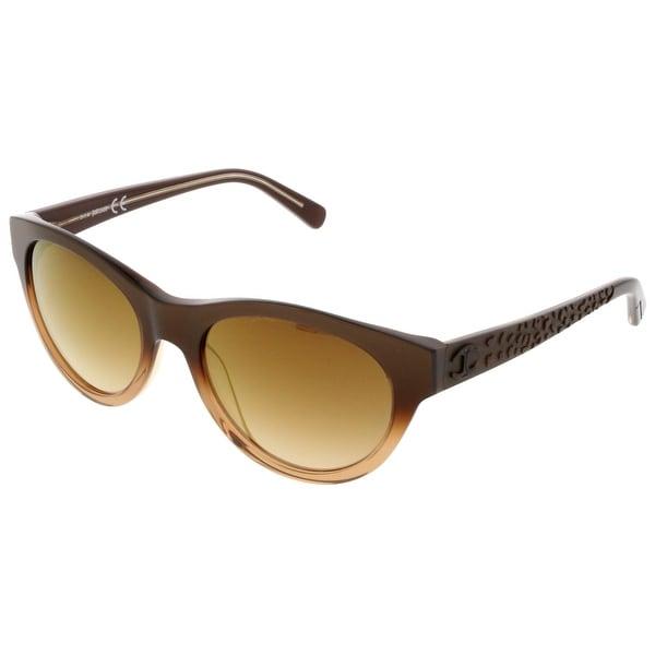 12c8d274ad4 Shop Just Cavalli JC 563S S 50G Brown Rectangle Sunglasses - 55-19 ...