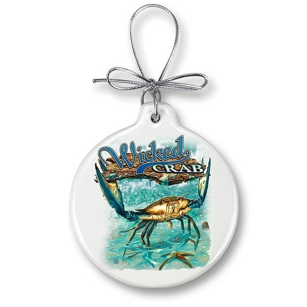 man cave fish decor christmas ornaments with silver ribbon for men - Fish Christmas Ornaments