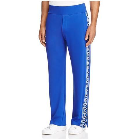 Versace Royal Blue Geometric Track Pants