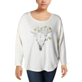 Denim & Supply Ralph Lauren Womens Sweater Lace Graphic - xL