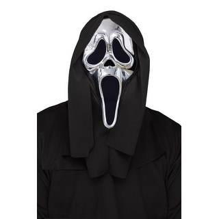 Fun World 25th Anniversary Ghost Face Adult Mask - Silver/Black