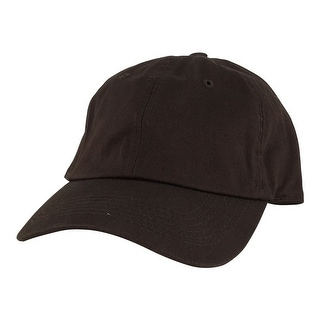 Plain Low Unstructured C1163 Cotton Curve Bill Adjustable Strapback Dad Cap - Coffee Dark