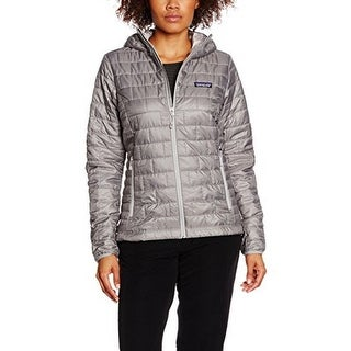 Patagonia Womens Nano Puff Hoody, Feather Grey, L