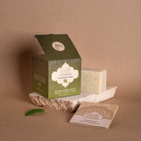 SPEARMINT SOAP & NATURAL LOOFA Organic Vegan Handmade Soap Cruelty Free