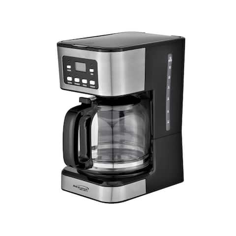 Brentwood TS-222BK 12-Cup Digital Coffee Maker, Black