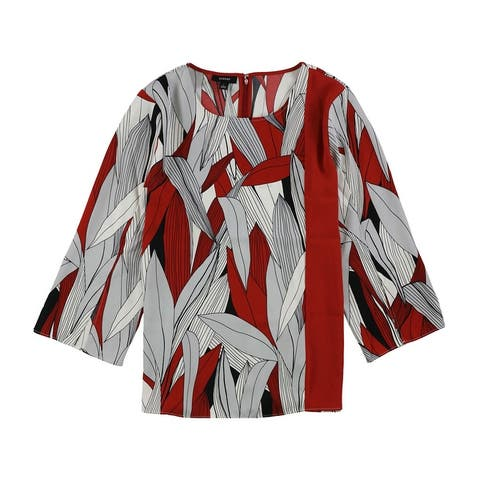 Alfani Womens Split Sleeve Tunic Blouse