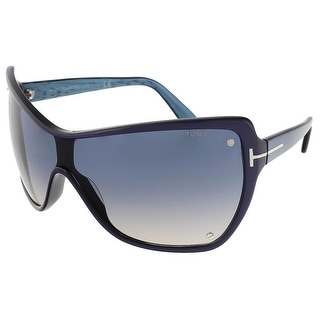 Tom Ford FT0363/S 86U Ekaterina Midnight Blue Rectangle Sunglasses