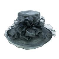 ChicHeadwear Womens High Top Organza Fashion Hat - One size