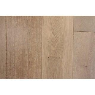 "La Havre Collection White sand Engineered Oak Wood Flooring 7.5"" wide"