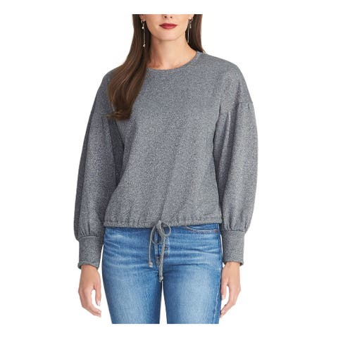 RACHEL ROY Womens Gray Long Sleeve Crew Neck Sweater Size S