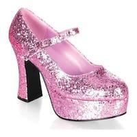 Funtasma Women's Mary Jane 50G Baby Pink Glitter