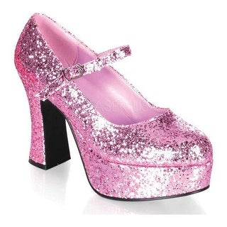 Funtasma Women's Mary Jane 50G Baby Pink Glitter