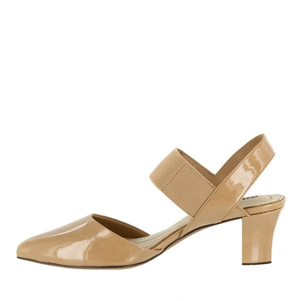 Easy Street Womens Vibrant Pointed Toe Ankle Strap D-orsay Pumps