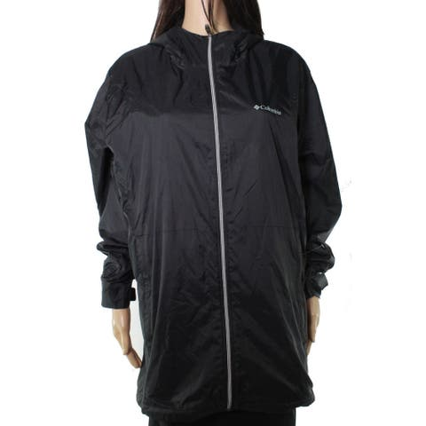 Columbia Womens Jacket Classic Black Size 1X Plus Zip Front Hooded