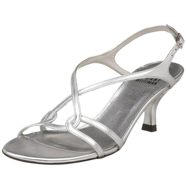 Stuart Weitzman NEW Silver Women's Shoes Size 10M Reversal Sandal