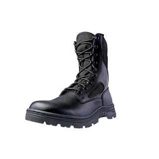 """Ridge Tactical Boots Men Dura-Max Zipper 8"""" Shaft Nylon Black 4105"""