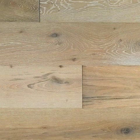 "Miseno MFLR-MISSION Mission - 7-1/2"" Engineered Hardwood Flooring - Handscraped White Oak Wood - Sold by Carton (36 SF/Carton)"