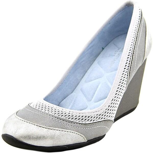 Adrienne Vittadini Vitus Women Open Toe Synthetic Wedge Heel