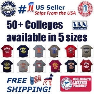 Pets First NCAA Tee Shirt for Dogs and Cats - Licensed.