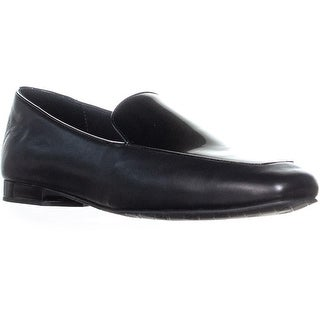 Donald J Pliner Honey Square Toe Loafers, Black - 8.5 us