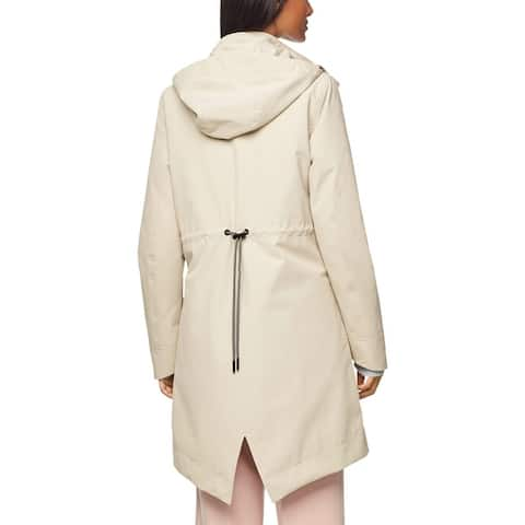 Cole Haan Womens Zerogrand Parka Coat Winter Waterproof - Silver