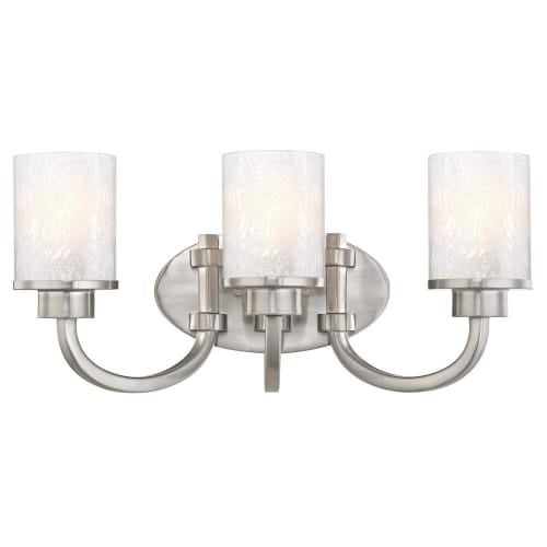 """Westinghouse 6308100 Ramsgate 20"""" Wide 3 Light Bathroom Vanity Light with Glass Shades"""