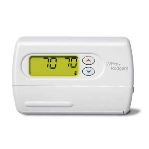 White-Rodgers 1F86-344 80 Series Standard Single Stage (1H/1C) Non-Programmable - White - N/A