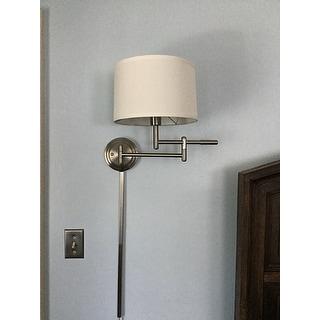 Design Craft Aldrin 1-light Swing Arm Wall Lamp