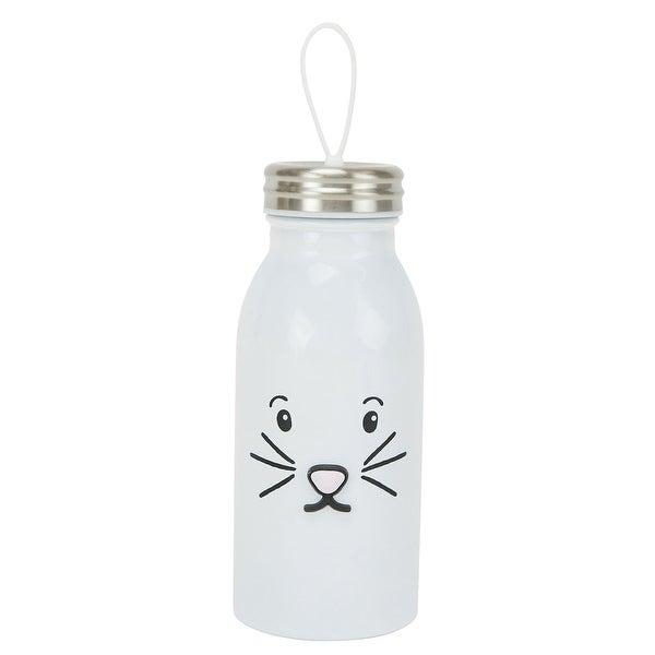 Animal Shaped Water Bottle - Rabbit - White