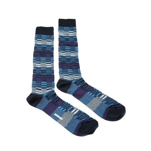 Missoni GM00CMU5241 0003 Blue/Purple Knee Length Socks