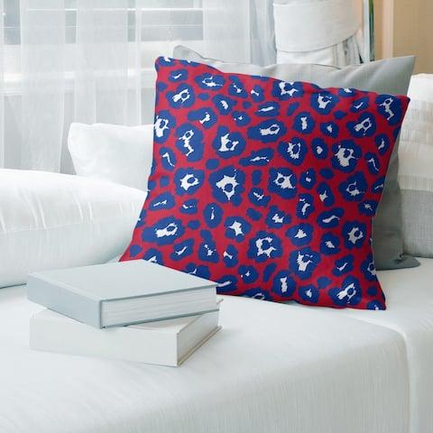 Buffalo Football Leopard Print Accent Pillow-Faux Linen