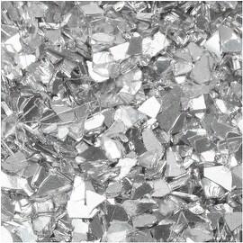 Art Glitter, Shard Glass Glitter, 28 Gram Container, Silvery Moon