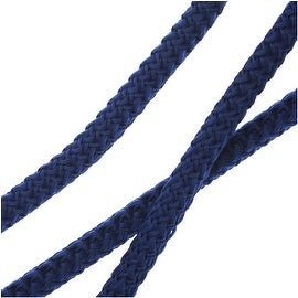 Climbing Rope Nylon Cord, Knot and Braid Necklaces and Bracelets 5mm, 10 Feet, Dark Blue