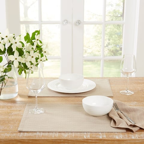 """Town & Country Harper Fabric Placemat, 13""""x17.5"""", Set Of 4 - 13""""x17.5"""""""