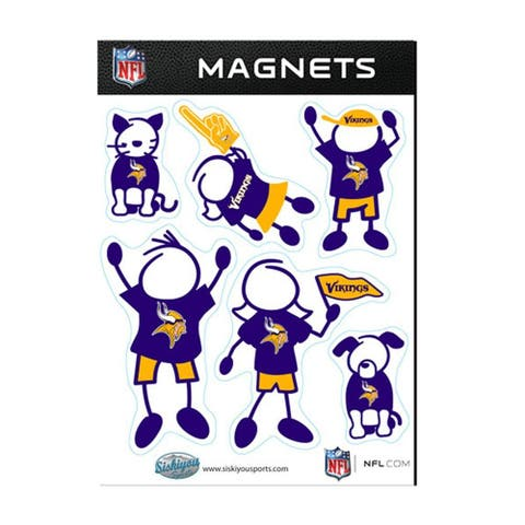 Minnesota Vikings Family Magnet Set - multi