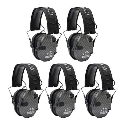 Walker's Razor Slim Electronic Shooting Hearing Protection (5-Pack)
