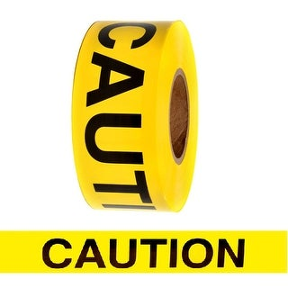 """Barricade Tape Caution Yellow 3"""" x 1000 ft 3 mil Non Adhesive Roll"""